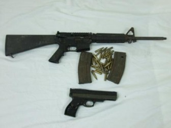 The firearms recovered (Police photo)