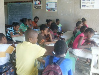Children during last year's summer class held by the organization