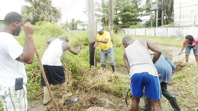 Residents during one of the organisation's many clean-up exercises.