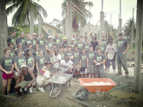 The volunteers from the Builders Beyond Borders who assisted in the construction of the community centre.