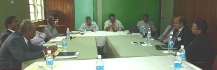 The two sides at the meeting (APNU photo)