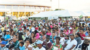A section of the crowd at the launch of Building Expo 2013