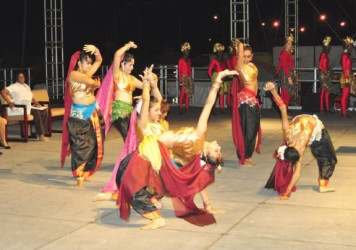 One of the cultural performances at the launch of Building Expo 2013 last evening
