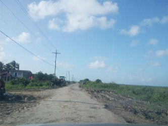 Residents of Burma Road, Region 5 are calling for a new road because of the impassable condition of their current road.
