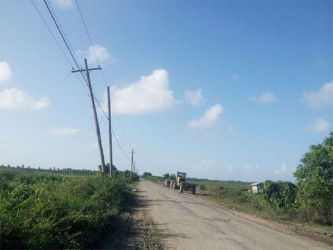 None of the posts along the five-mile stretch of road at Burma have a street light, which residents say makes the road unsafe at nights.