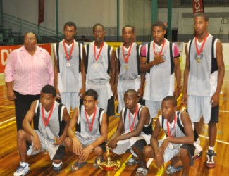 The victorious U17 Champions Kwakwani Secondary