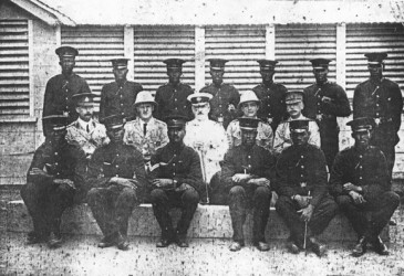 Local forces in 1915 (Police and members of the West India Regiment)