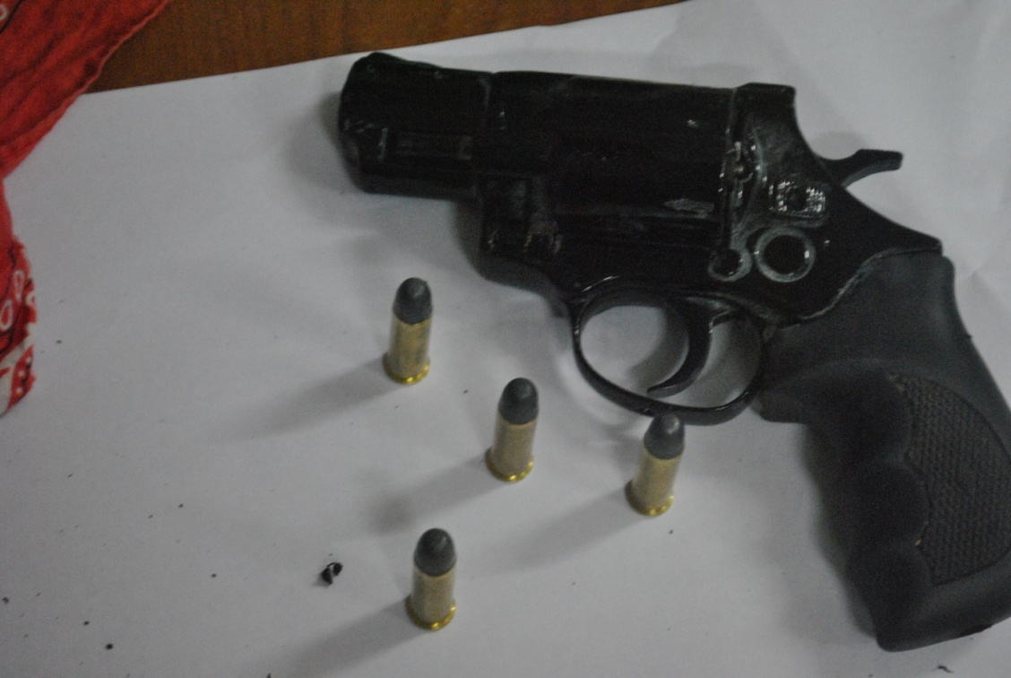 The revolver recovered by the police