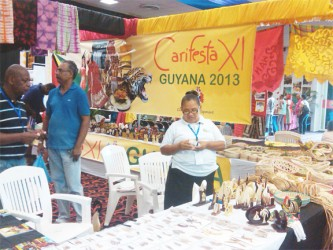 Craft items at one of the booths
