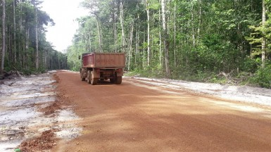 A section of the Amaila Falls Access Road. (Works Ministry photo)