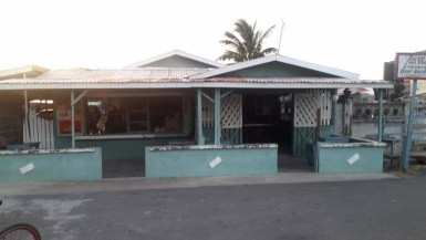 Ravo's Pool Shop, Grocery Store and Beer Garden, located in front of Ravindra Persaud's residence, where he was robbed at gun-point on Wednesday morning.