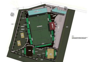 The conceptual design of Guyana's FIFA Goal Project to be built at the Providence Community Centre ground.