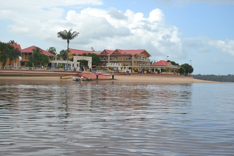 The newly opened Aruwai Resort located in Region Seven, minutes away from Bartica. (Ministry of the Presidency photo)