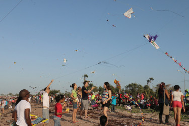 Kite flying on Easter Monday