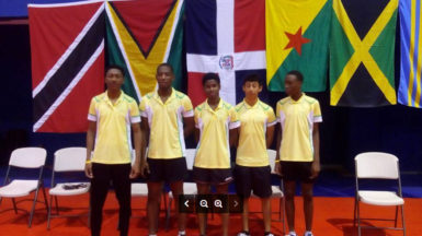 The Guyana junior boys' team which made history by qualifying for the Pan Am games in Canada in June.