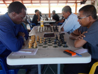 An absolute entry to all local chess tournaments, is Frankie Farley (left). Unless he is travelling, Farley contests every competition. He remains a menacing figure in tournaments and disappoints many who have intentions of winning prizes. That is the nature of competition that is required in local chess. The Guyana Chess Federation is hosting a seven-round Swiss-system tournament that began yesterday and continues today at the National Resource Centre in Woolford Avenue from 09:30 hrs.