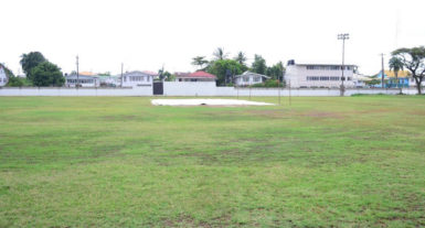 Rain washed out play between the U17 Select and Essequibo at the Demerara Cricket Club ground.