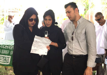 Afifa Samad and two siblings during an emotional tribute