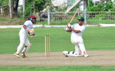 Jonathan Fernandes played a mature hand to help rescue Essequibo.(Orlando Charles photo)