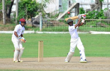 Looknauth Chinkoo anchored his team with a defiant half century. (Orlando Charles photo)