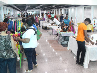 A section of the new wing that was opened up to local businesses in a bazaar setting at the Giftland Mall. (Photo by Keno George)