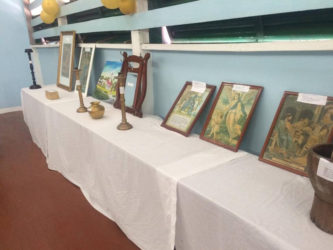 Some of the memorabilia on display after the celebration on Monday