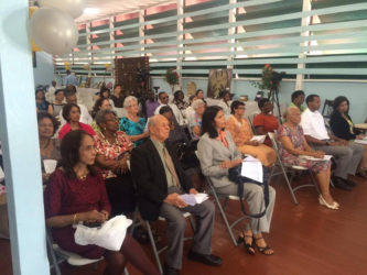 The audience at the Dharm Shala for the celebration of its 95th anniversary on Monday
