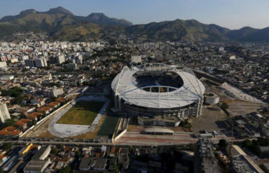 An aerial view of the Olympic Stadium in Rio de Janeiro. (Reuters photo)
