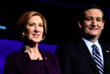 Carly Fiorina and Ted Cruz