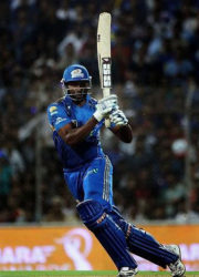 West Indies batsman Kieron Pollard … blasted a 17-ball half-century to lift Mumbai Indians to victory. (file photo)