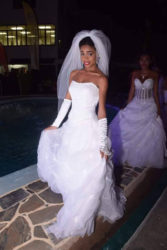 Sarafina Edghill modelling a bridal gown at the 2016 Wedding Expo