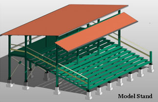 An artist's impression of the finished bleachers