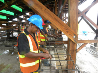 Work proceeding on the D'Urban Park project