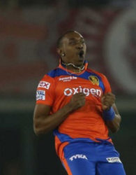 All-rounder Dwayne Bravo grabbed two wickets but failed with the bat.
