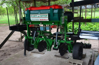 The National Agricultural Research and Extension Institute's Mechanical Harvesting machine (GINA photo)