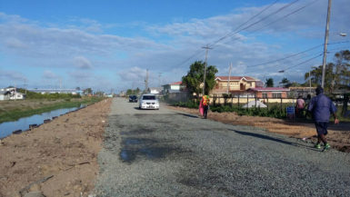 The Dennis Street, Sophia road shortly after it was rehabilitated in April (MPI photo)
