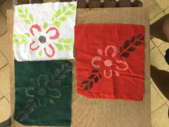 A sample of the fabric art completed by David Rose students