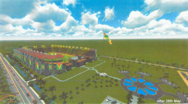 Artist's impression of the completed D'Urban Park