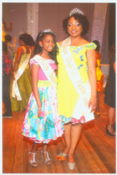 Renita Crandon-Duncan and her younger daughter at the Mother and Daughter Pageant