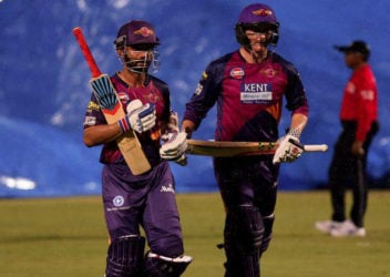 Ajinkya Rahane and George Bailey walk off after their team's victory. (Photo IPL website)