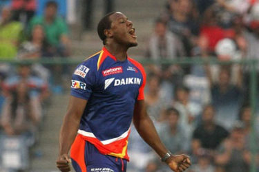West Indies all-rounder Carlos Brathwaite grabbed two wickets and effected a brilliant run out.