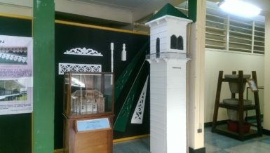 Architectural pieces on display at the exhibition