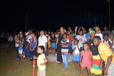Residents of Mahdia watching fireworks (GINA photo)