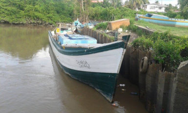 Boat that was detained at the Number 65 koker