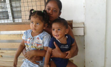 Teajpattie Seusaran and her children