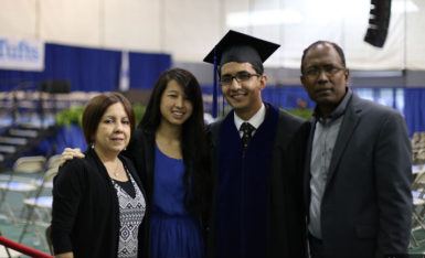 Daniel Ram (2nd right) surrounded by family members. His wife Alice Cao Ram (2nd left), mom, Dr. Ruth Ram (far left) and dad Dr. Chatterpaul Ram (far right)