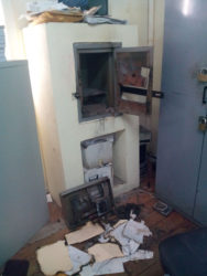 The torched safes