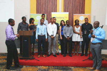 The Intellect Storm Team during the launch of their software app and website Directory.gy.