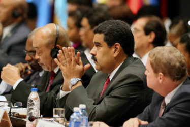Venezuela's President Nicolas Maduro (C) attends the opening of the 7th Summit of Heads of State for the Association of Caribbean States in Havana, Cuba, June 4, 2016. (Reuters/Alejandro Ernesto/Pool)