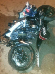 The CBR motorcycle Fox was riding at the time of the accident.